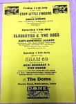 "STIFF LITTLE FINGERS / SLAUGHTER AND THE DOGS / SHAM 69 - 17"" X 24"" Gig Poster (EX)"