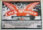 COCK SPARRER / VULTURE CULTURE - 63cm x 88cm GERMAN 1994 TOUR POSTER (EX)