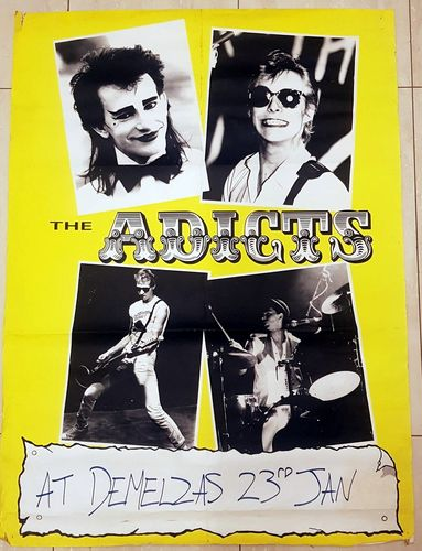 ADICTS, THE - 73cm x 98cm TOUR POSTER (VG)