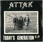 "ATTAK - Today's Generation E.P - 7"" + P/S (VG+/EX-) (P)"