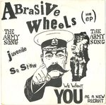 "ABRASIVE WHEELS - The Army Song (RED VINYL) - 7"" + P/S (EX/EX) (P)"