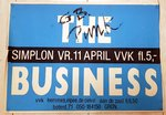 BUSINESS, THE - 70cm x 49cm 11th April 1987 Groningen, Holland GIG POSTER (VG+)