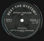 "ANTISOCIAL - Official Hooligan E.P. 7"" (-/VG+) (P)"