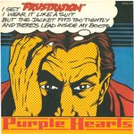 "PURPLE HEARTS, THE - Frustration 7"" (+ GERMAN P/S) (EX/EX-) (M)"