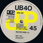 "UB40 - Red Red Wine 12"" (-/VG+) (M)"